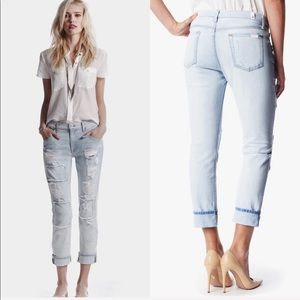 • 7 For All Mankind • Relaxed Skinny Patched Jeans